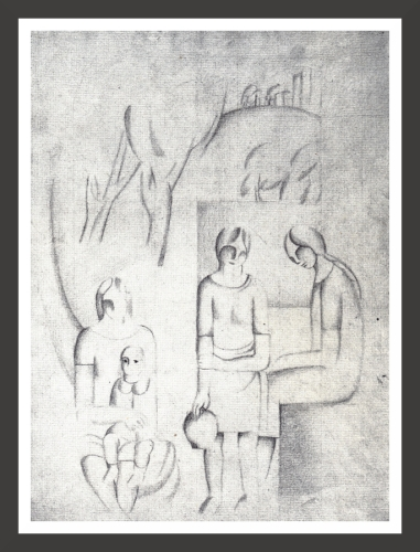 Pencil on paper, 24 x 31,7 cm Private collection
