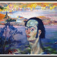 0085-Selfportrait with the neck of Raphael (1921)