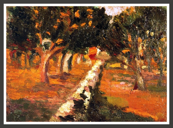 Oil on canvas, 27,2 x 19,6 cm Private collection