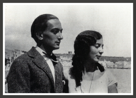 salvador Dali is portrayed here with his younger sister Ana Maria. They were very close at that time and Ana Maria appears in many of Dali's paintings and drawings done between 1924 and 1925. The background lets us think that this photo was taken in Cadaqués during the summer vacations.