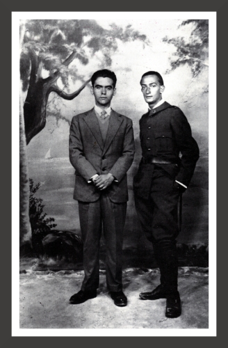 Federico Garcia Lorca (1898-1936) is a famous Spanish playwright and poet. Dali and Lorca met in 1923 when Dali arrived at the Royal Academy of Fine Arts in Madrid. They became very close friends and because of Lorca's homosexuality, it is assumed that they developed a relationship based upon feelings stronger than friendship. However, no letter or any document proves that they really developed this kind of relationship.