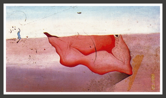 Oil and gravels on panel, 79,5 x 39,2 cm Fundacion Gala-Salvador Dali, Figueras