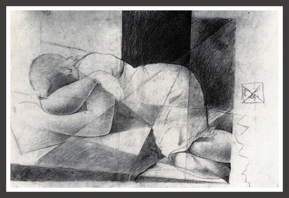 Pencil on paper, 49,7 x 32,5 cm Fundacion Gala-Salvador Dali, Figueras