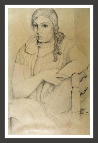 Lead pencil on paper, 32 x 49 cm Museo de Montserrat, Barcelona
