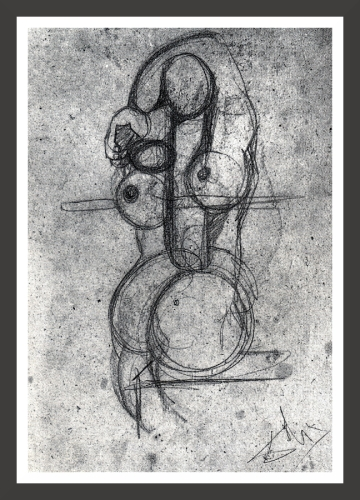 Charcoal on cardboard, 33 x 49 cm Private collection