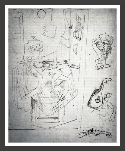 Pen and indian ink on paper, 17,2 x 22,5 cm Fundacion Federico Garcia Lorca, Madrid